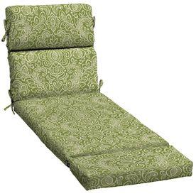 Green Stencil Patio Chaise Lounge Cushion Patio Chair Cushions Patio Chairs Chaise Cushions