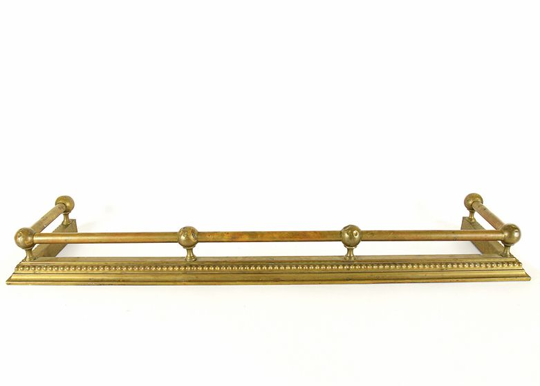 Brass Fireplace Fender From Wakefield Scearce Galleries Sales