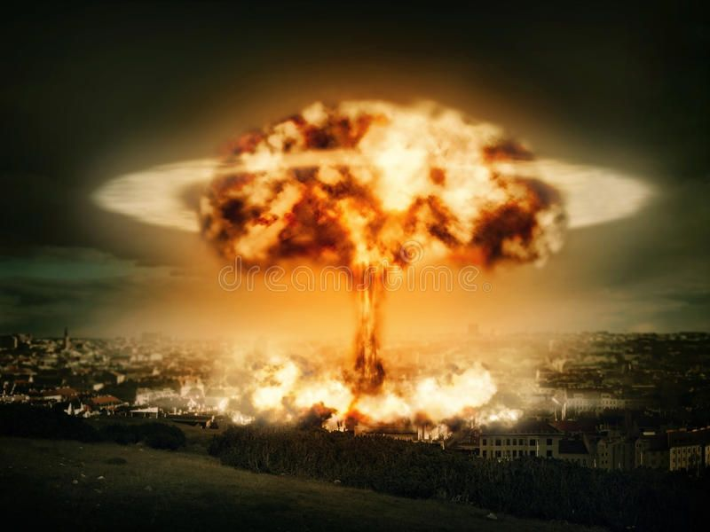 Explosion Of Nuclear Bomb Over City Ad Nuclear Explosion City Bomb Ad Nuclear Bomb Explosion Nuclear