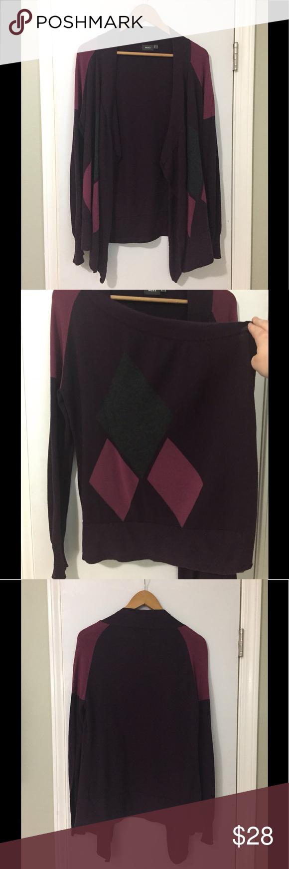 Drape Cardigan | Deep purple, Purple and Minimal