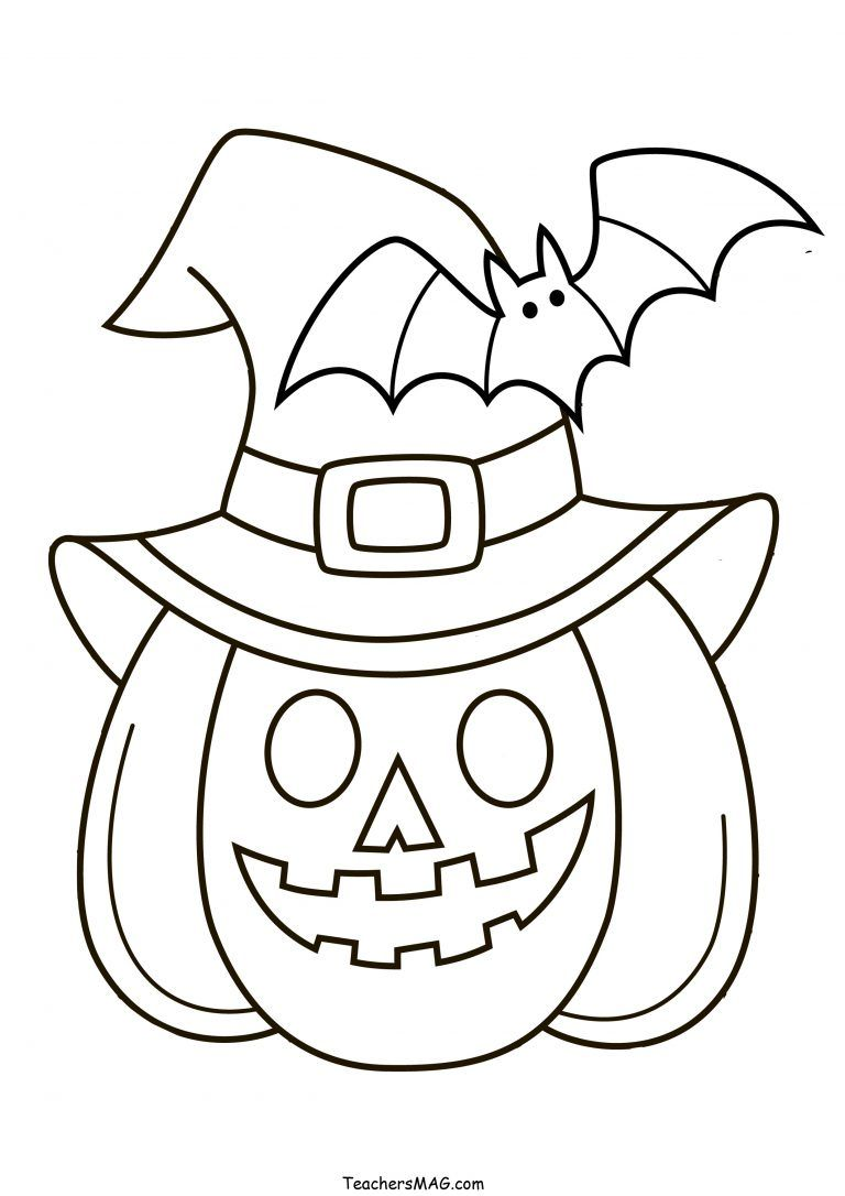 Halloween Pumpkin Color Free Halloween Coloring Pages Halloween Preschool Halloween Coloring Pages