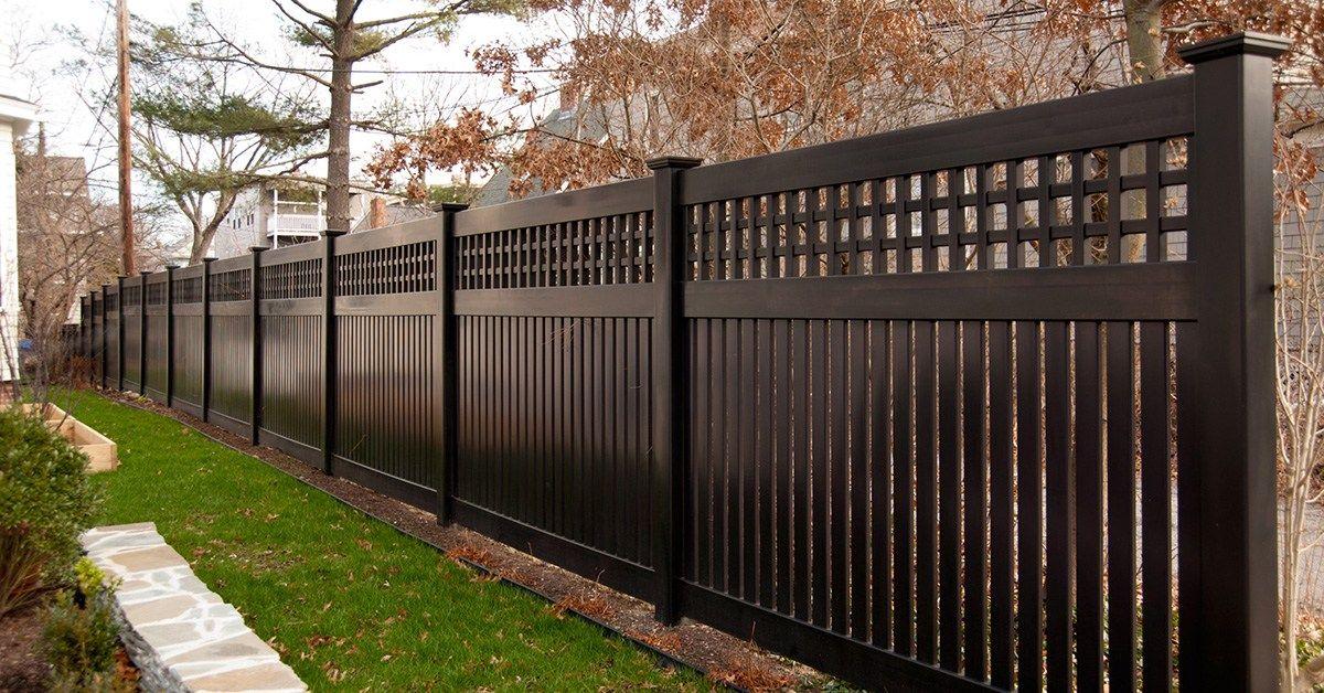 Images Of Illusions Pvc Vinyl Wood Grain And Color Fence Backyard Fences Fence Design Vinyl Fence