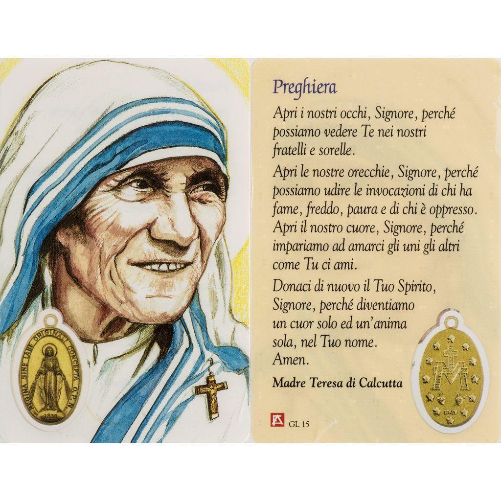 Preghiere Prima Comunione Madre Teresa Cerca Con Google Madre