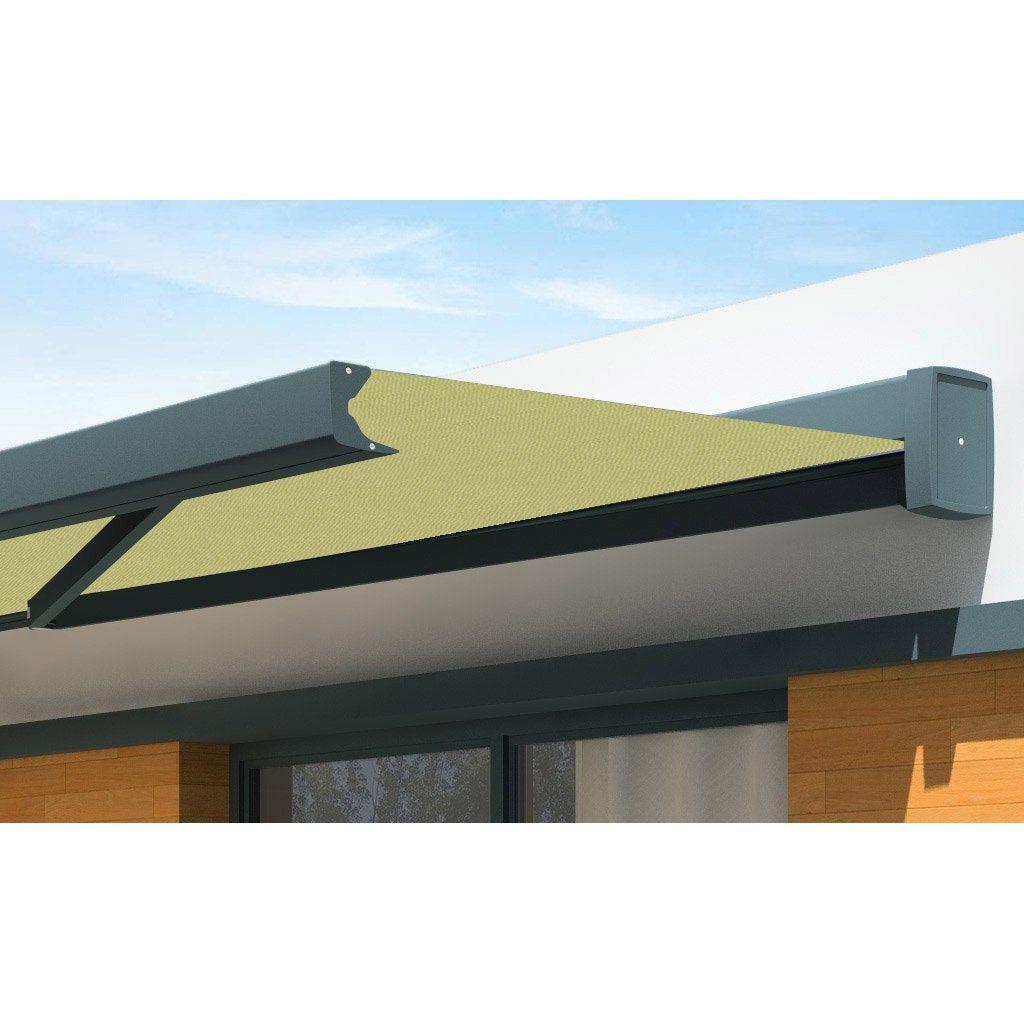 store banne motorisé 5 x 35 m vert olivea loft xl toile