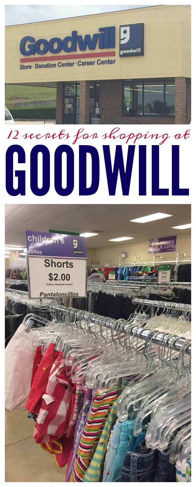 12 Secrets for Shopping at Goodwill. Here are the tips ...
