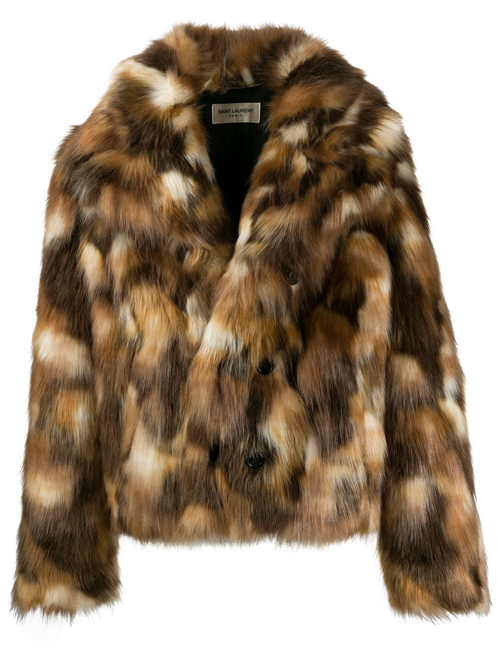 Saint Laurent double-breasted Faux Fur Jacket in 2020   Одяг