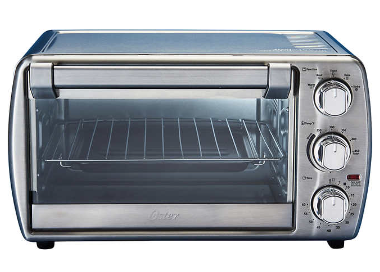 Oster 6 Slice Convection Countertop Oven Turbo Convection Heat