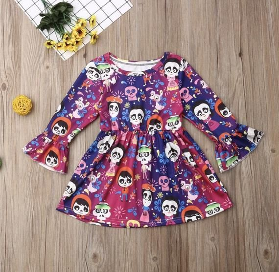 Coco Dress Girl Day of the Dead boutique dress #babygirlpartydresses