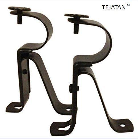 Curtain Rod Brackets Black Set Of 2 Adjustable Also Known As