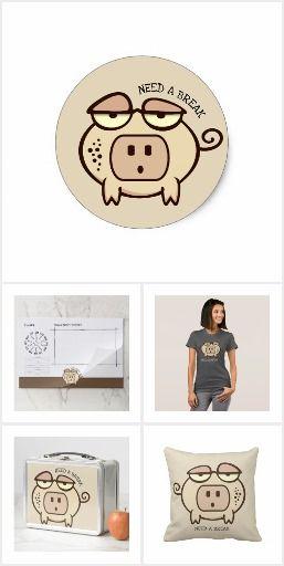 Plug Nose Pig   Zazzle Gift Collection #zazzle #pig # ...