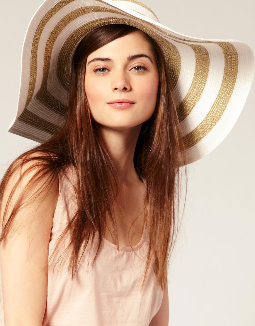 4bf9b82d love floppy summer hats! Striped Floppy Hat. Perfect Beach Accessory. Floppy  Straw Hat, Straw Hats, Fashion