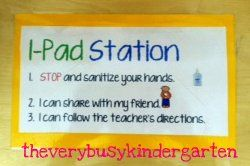 The Very Busy Kindergarten--The I-Pad Station