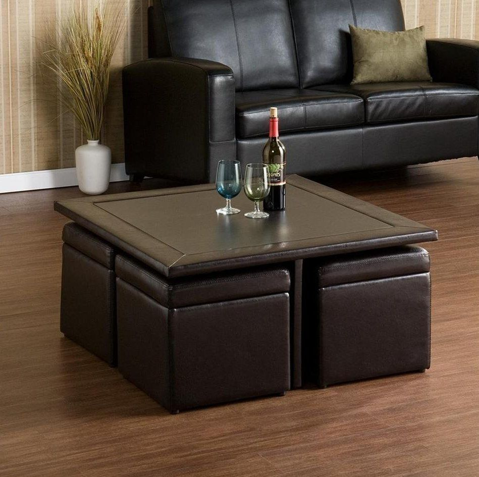 Coffee Table Best Ottoman Tray Leather With 4 Ottomans Underneath Awesome F