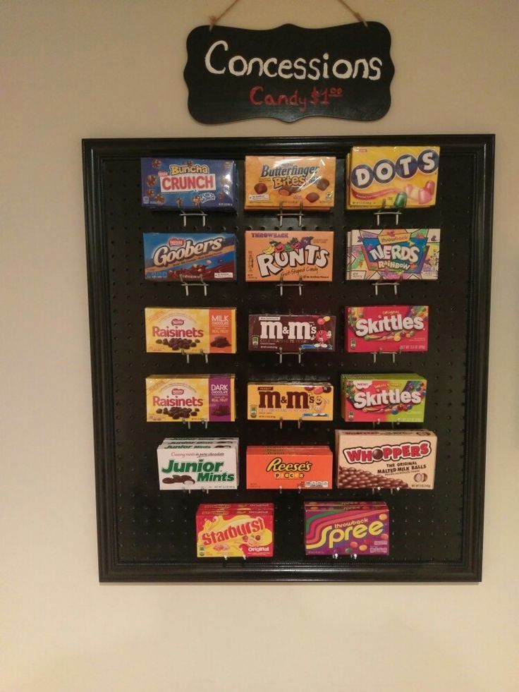 Candy Display Diy Movie Theater Room Movie Theater Rooms