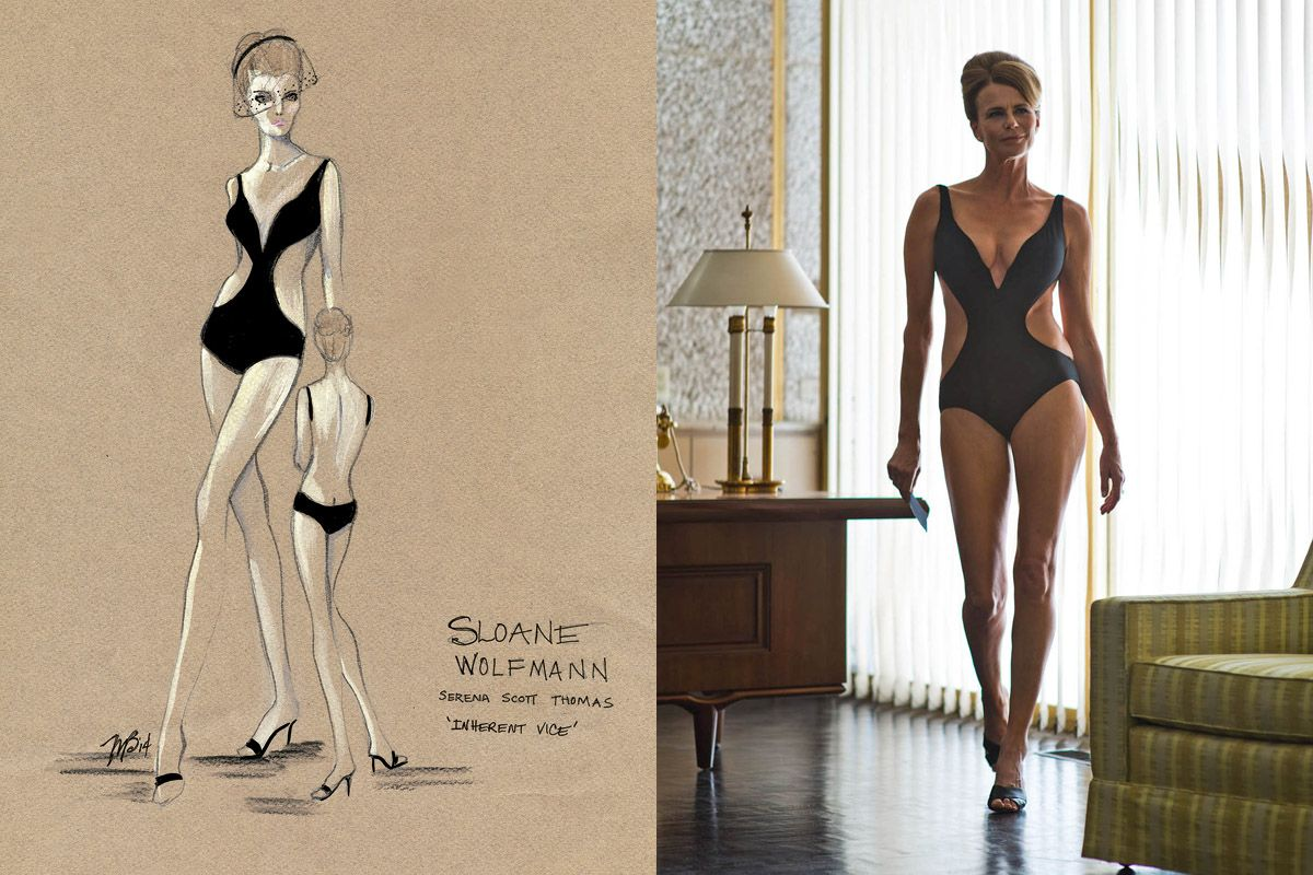Costume design sketches from 'Inherent Vice'. An inside look at some of the designs of Paul Thomas Anderson's latest