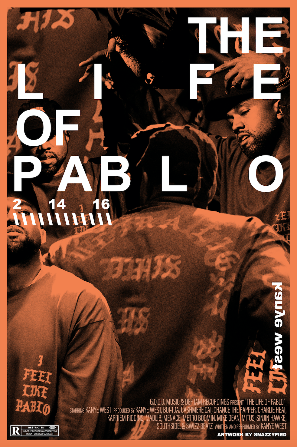 Kanye West 'TLOP' Poster - 12x18