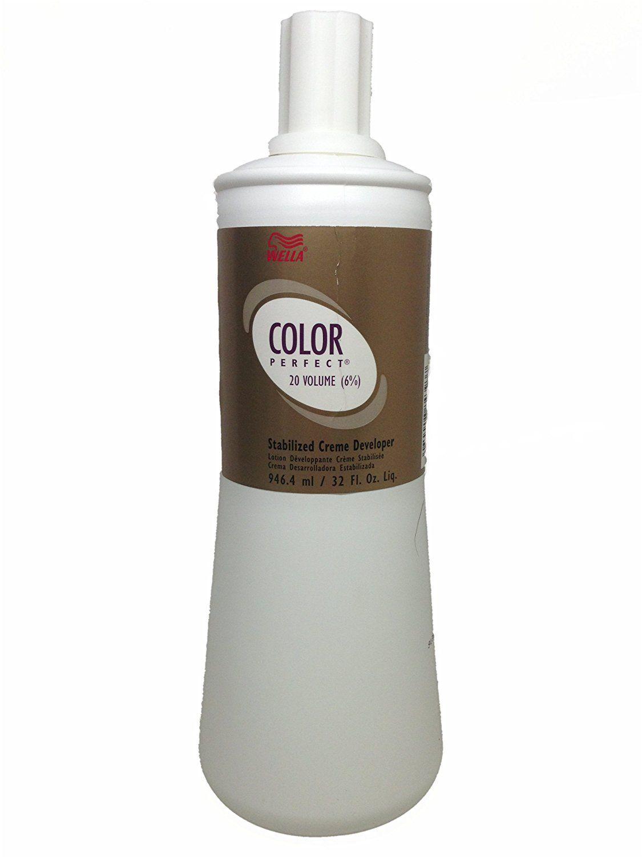 Wella Perfect 6 Percent Stabilized Cream Developer Hair Color 32