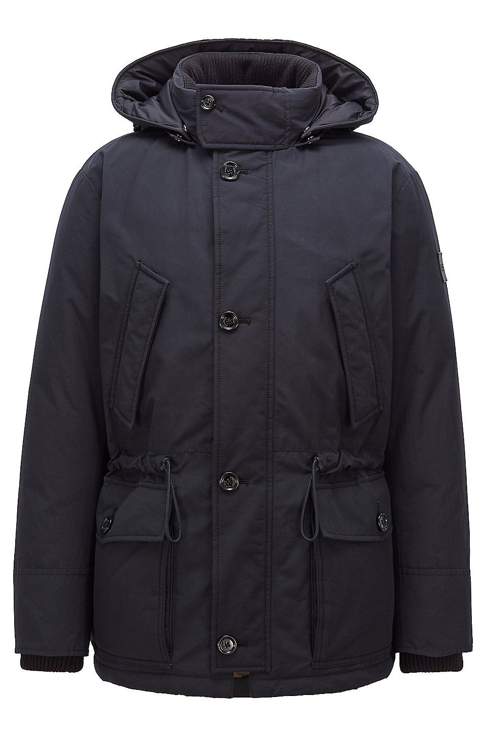 74e5aa587 HUGO BOSS Relaxed-fit down jacket with waxed cotton-blend outer ...