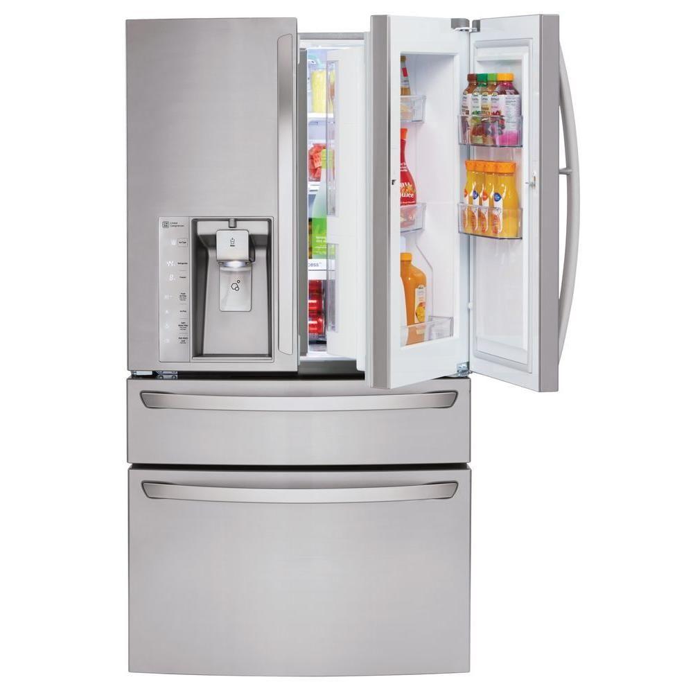 Lg Electronics 22 5 Cu Ft Smart French Door Refrigerator Instav In 2020 Stainless Steel French Door Refrigerator French Door Refrigerator Lg French Door Refrigerator
