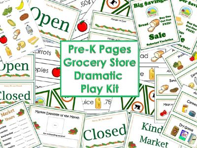 Dramatic Play Grocery Store | Sale signs, Store signs and ...