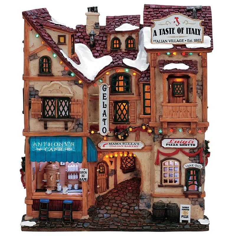 Lemax - A Taste Of Italy Facade - (35855) - £203 from Lemax - christmas town decorations