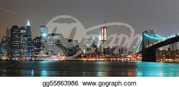 """NEW YORK CITY NIGHT PANORAMA"" -New York Stock Photo from gograph.com."