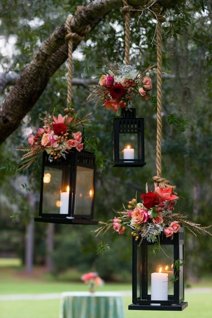 Deko Selber Machen Gartenparty Beleuchten Kerzen Und Blumen Kombinieren