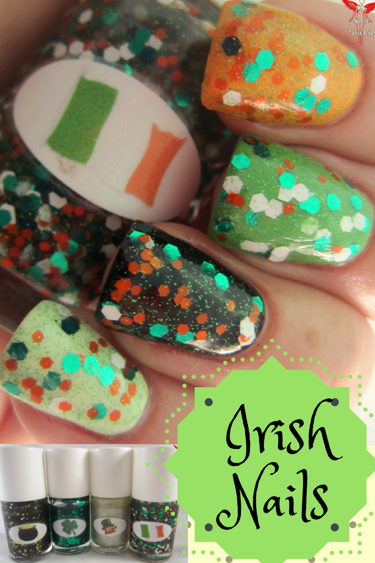 Irish flag polish is a blend of green, white, and orange hex ...