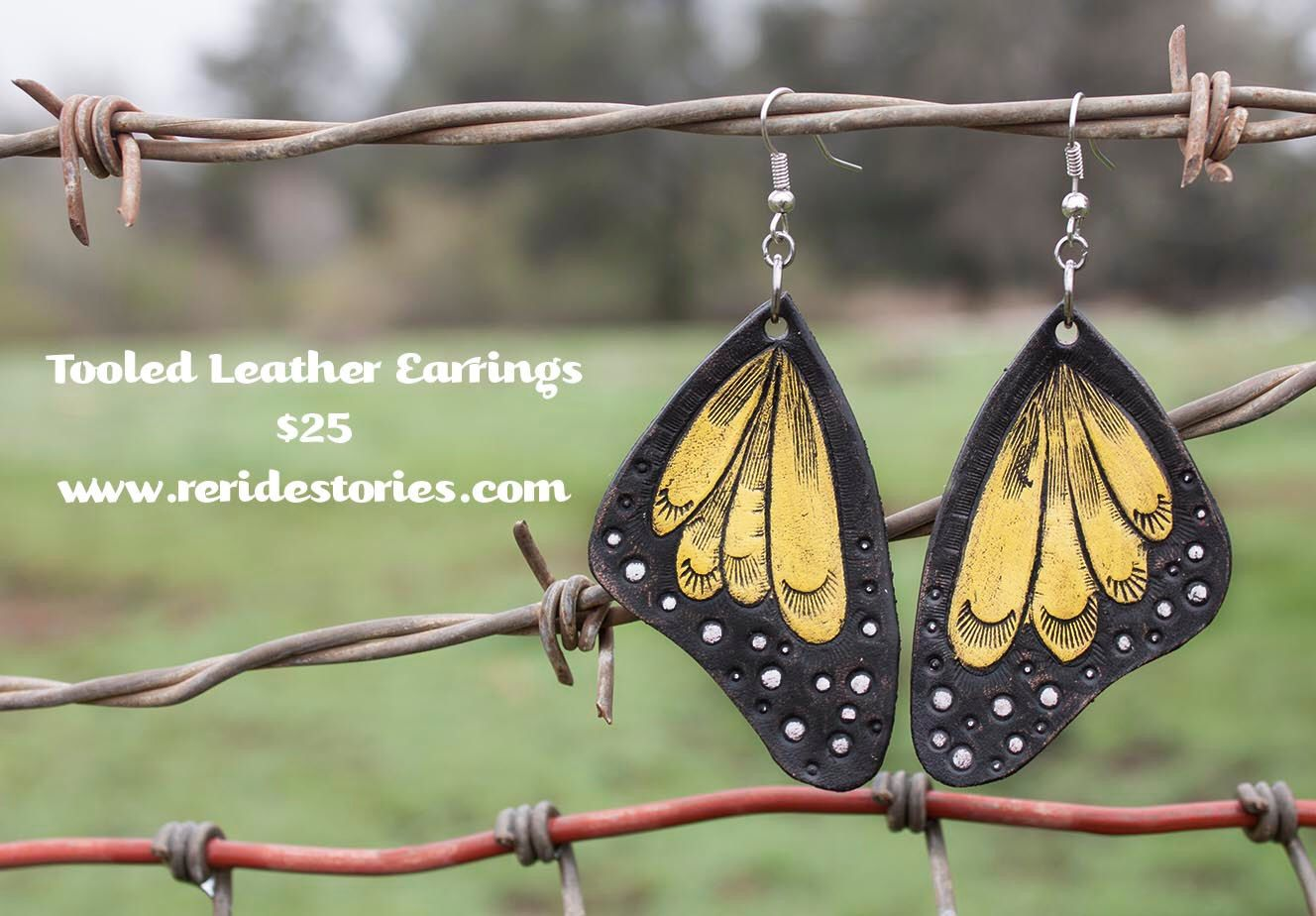 A personal favorite from my Etsy shop https://www.etsy.com/listing/269065035/leather-earrings-yellow-wings