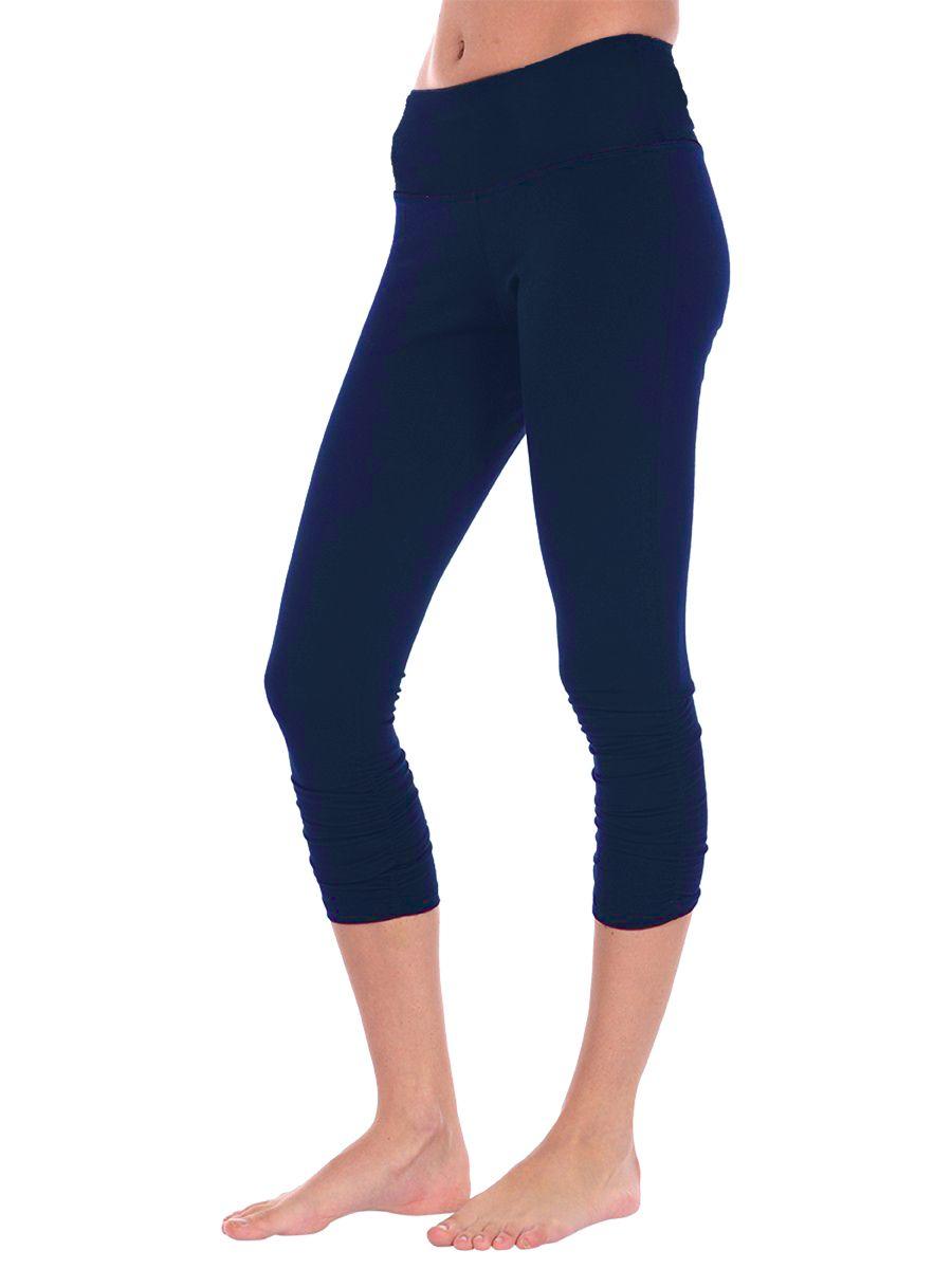 Anjali Clothing The Sutra Crop Pant in Organic Cotton Mallard @ www.downdogboutique.com  $65 #YogaPants #YogaClothing #Yoga