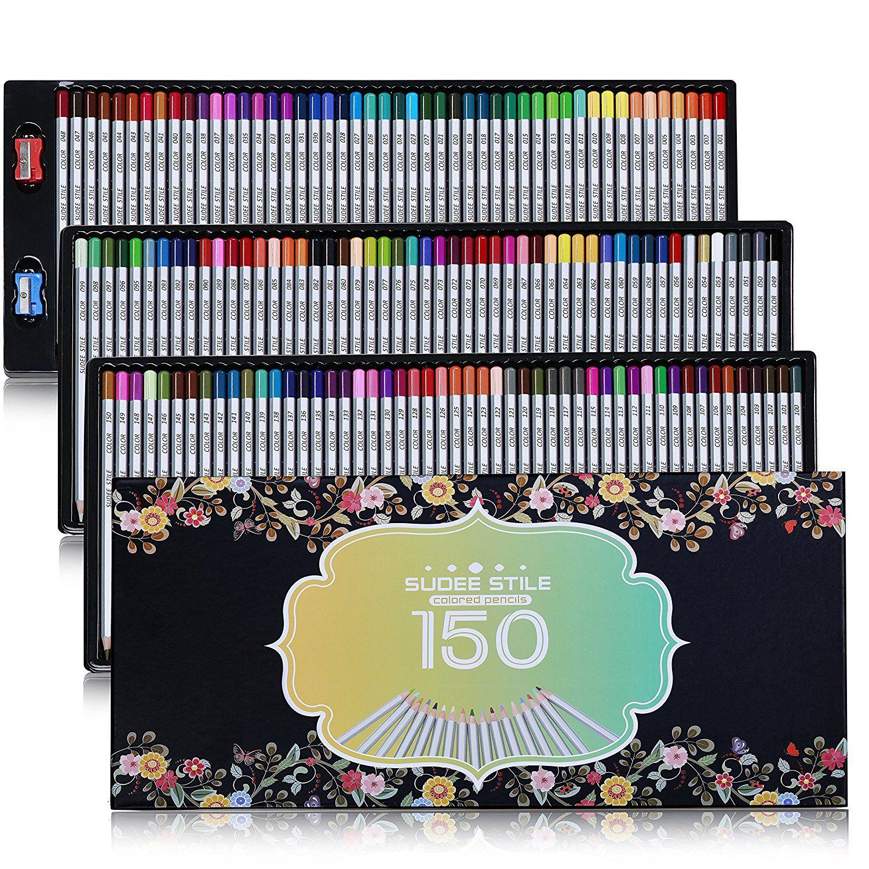 Sudee Stile Crayons De Couleur Coloriage 150 Pcs Sans Doublon