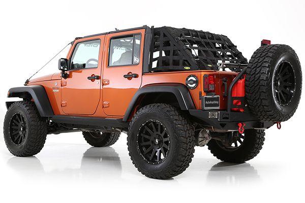 For 07-15 Jeep JK Wrangler 2-Door C.RES Systems Cargo Net Smittybilt 571035