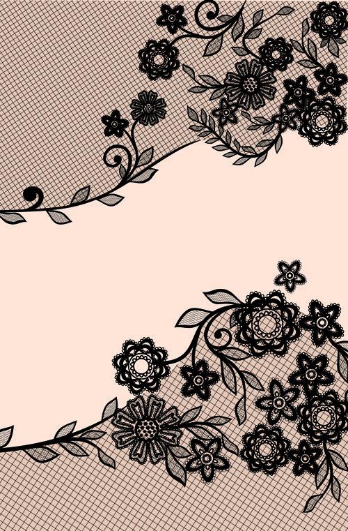 Black Lace Floral Creative Background 01 Lace Wallpaper Creative Background Lace Background