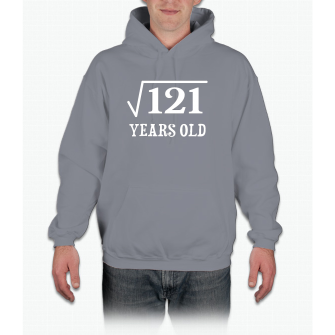 Square Root of 121 11 yrs years old 11th birthday T-Shirt Hoodie ... 2df12aeca238b