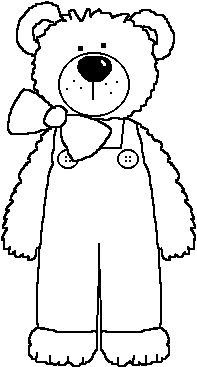 Teddy Bear In Coveralls Bear Coloring Pages Teddy Bear Coloring
