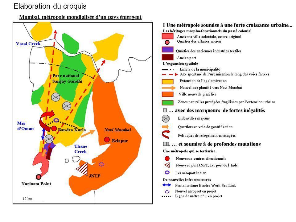 Croquis Mumbai Metropole Emergente Histoire Geographie Cours