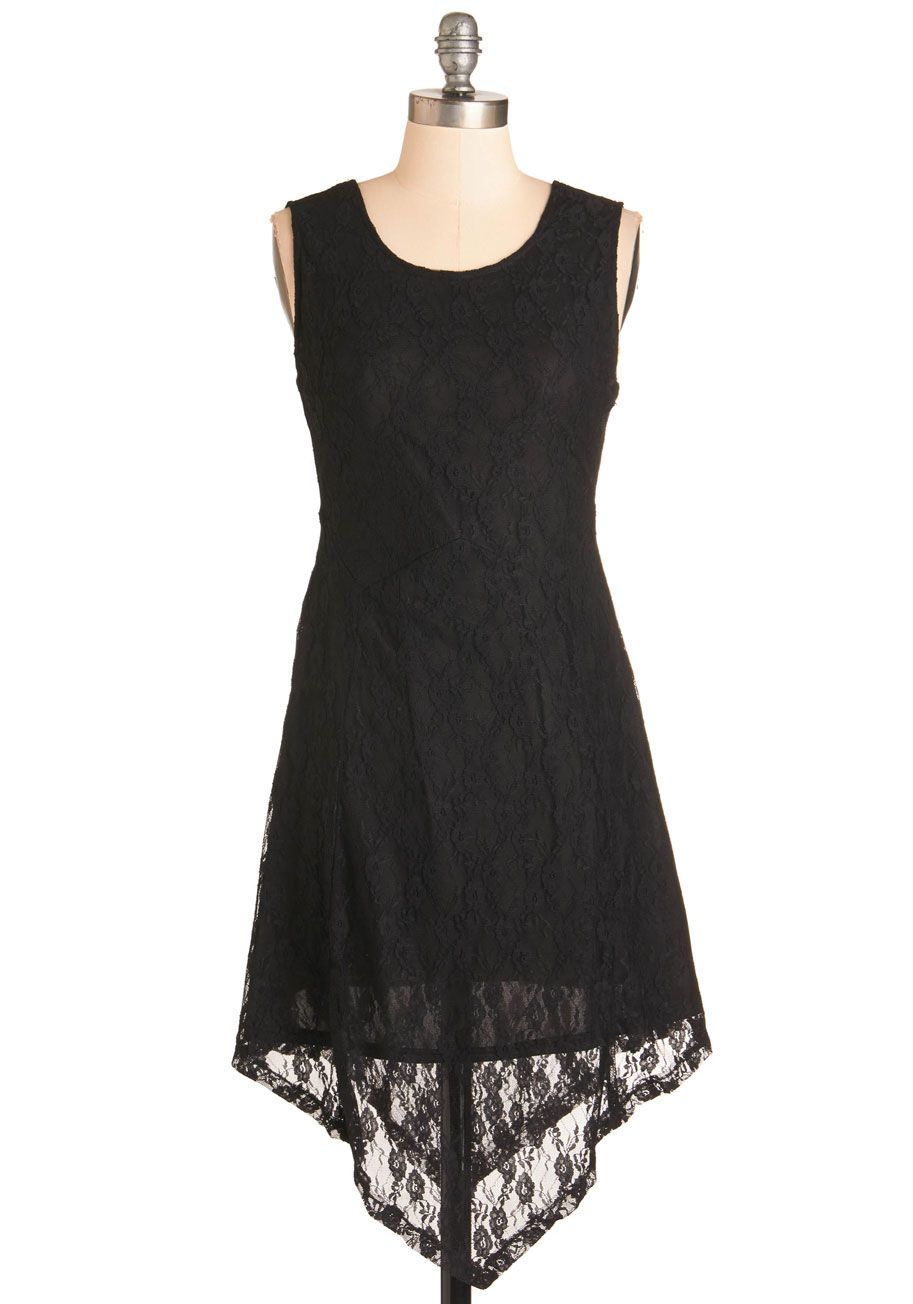 4d1d0e8ff8d Slip into the guaranteed glamour of this lacy black dress and hit the town  in style!  black  modcloth