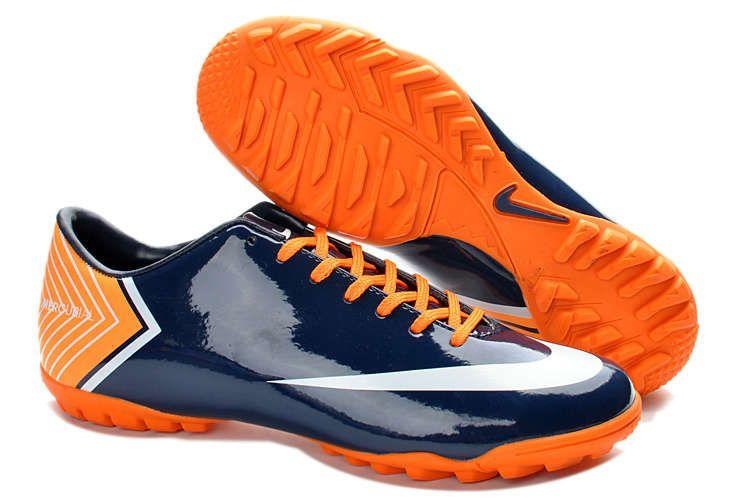 Buy 2013 New Nike Mercurial Vapor 10 TF Cristiano Ronaldo Dark Blue Shoes  Football Shoes Shop