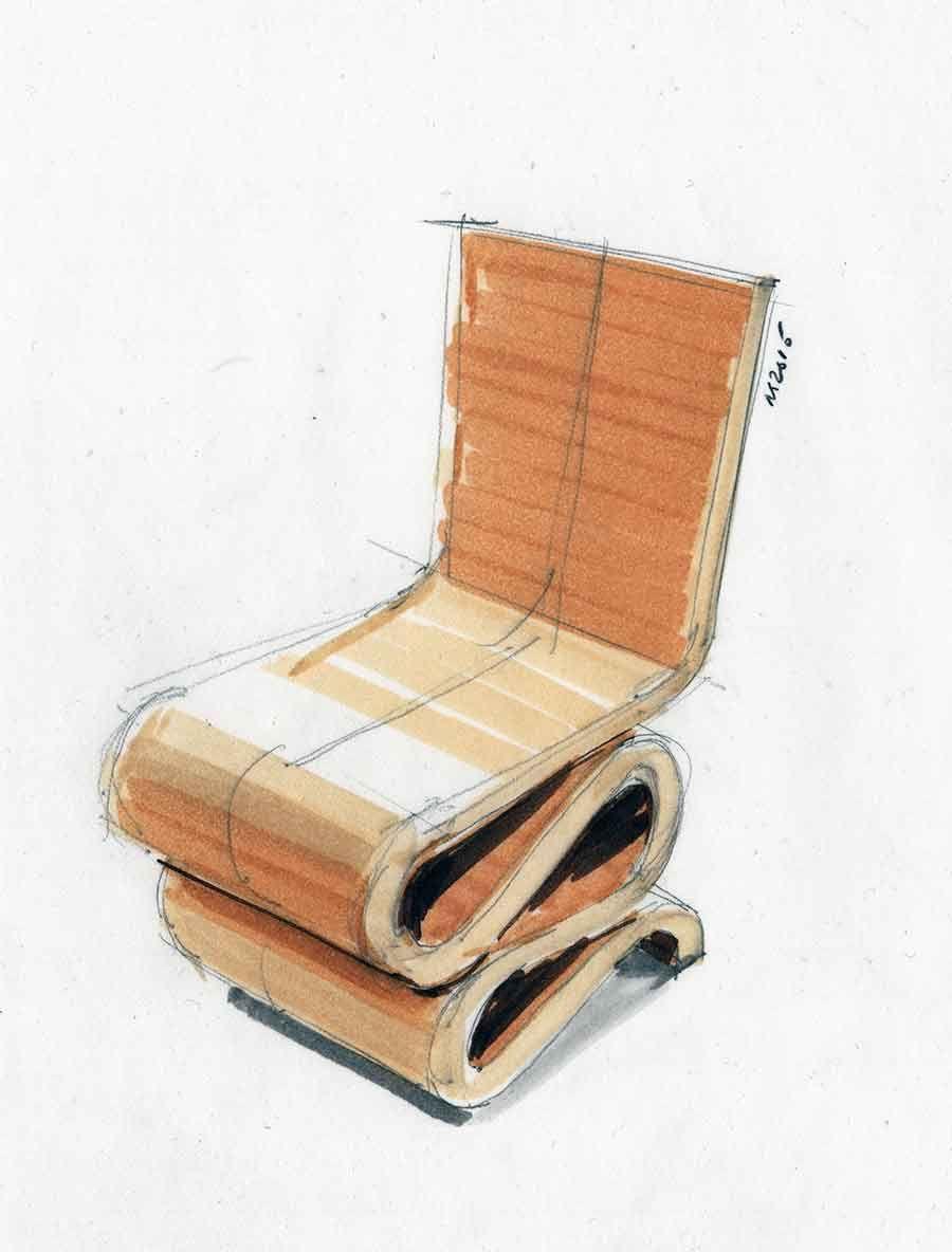 Wiggle Side Chair\