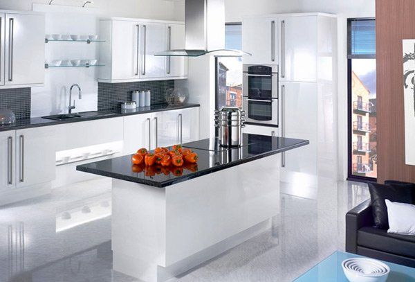 17 White And Simple High Gloss Kitchen Designs White Gloss