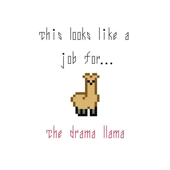 The Drama Llama PDF PATTERN only | Französisch, Graf und ...