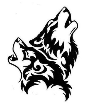 Wolf Howling Tattoo Outline Howling Dibujos Tribales Tatuajes De Lobos Tribales Dibujo De Lobos