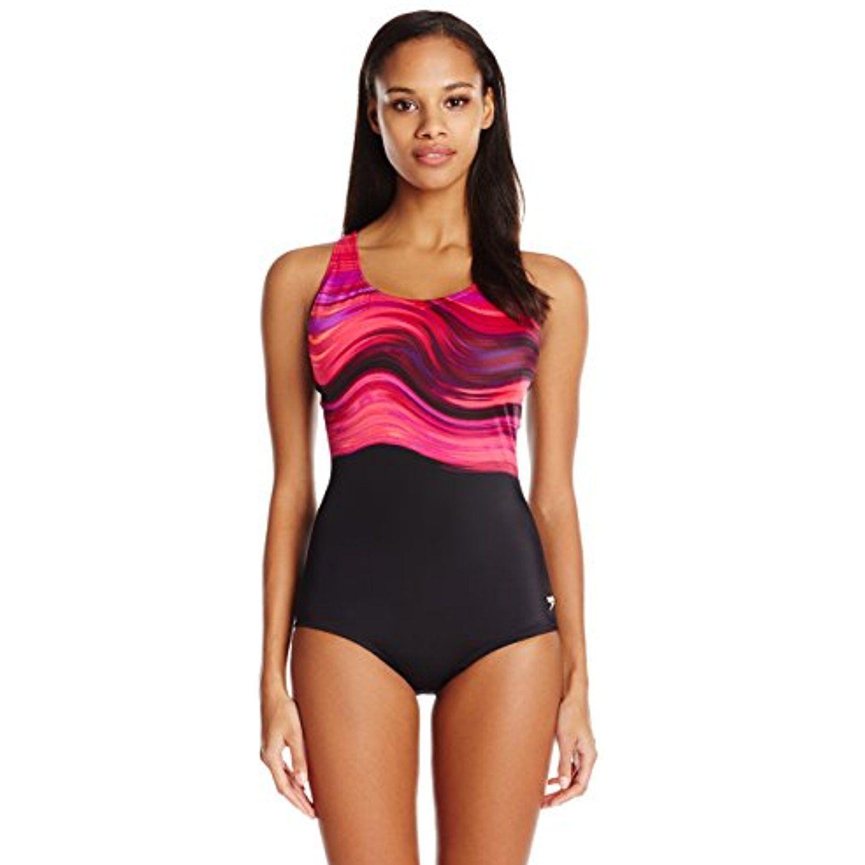Speedo Womens Powerflex Eco Cross Back Swimsuit Top