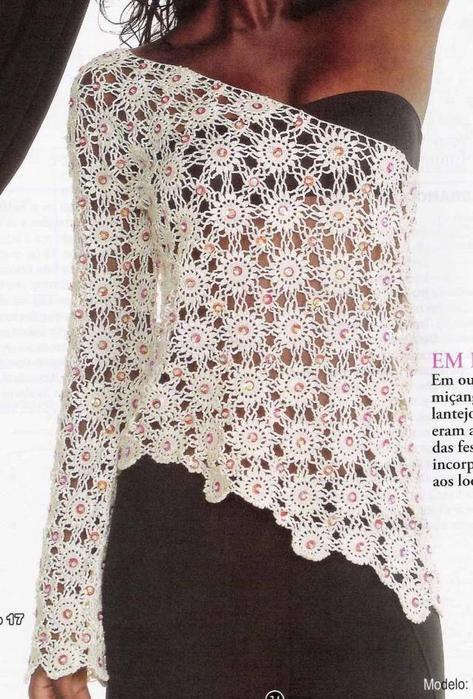 Top Camisa con una Manga - Patrones Crochet | crochet | Pinterest ...
