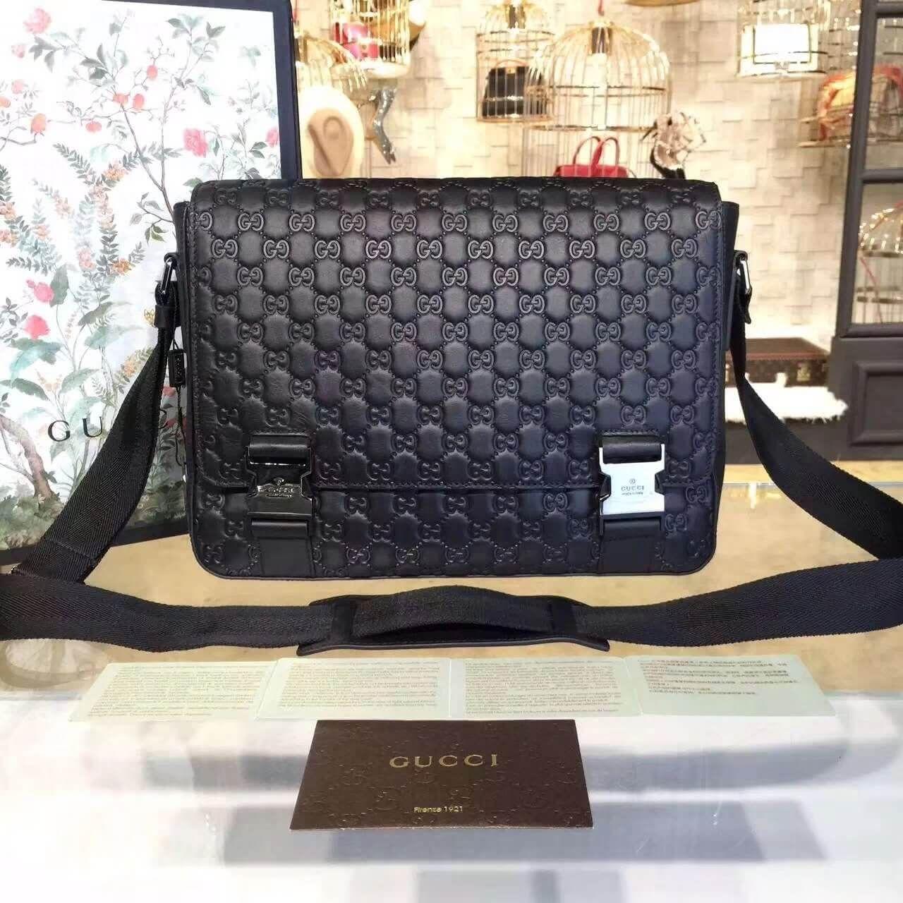 6fa50d69065 Gucci Signature Leather Medium Messenger Bag For Men 406367