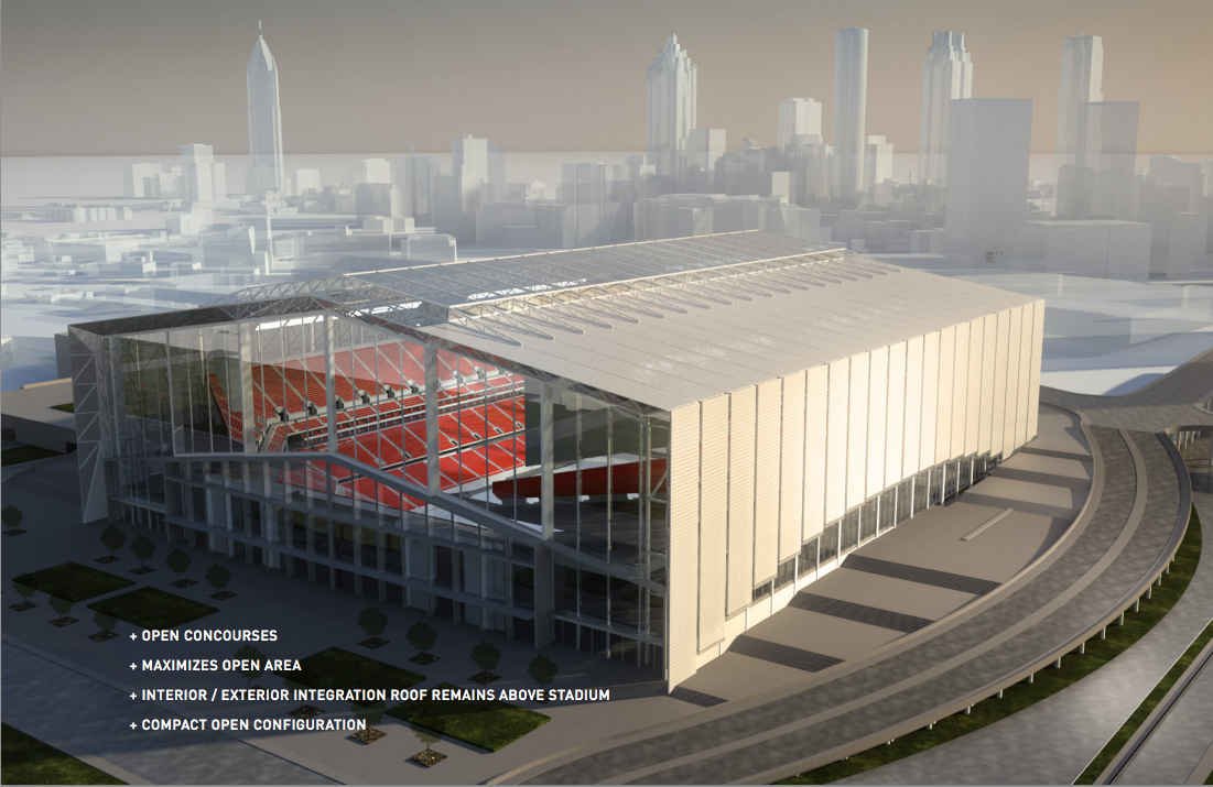 The Prospective Designs For The Atlanta Falcons New Stadium Are Crazy Stadium Design Cowboys Stadium Atlanta Falcons