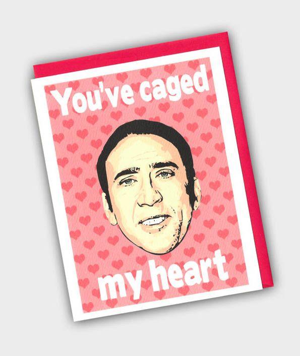 Nicolas Cage Valentines Card Valentine Gift Ideas