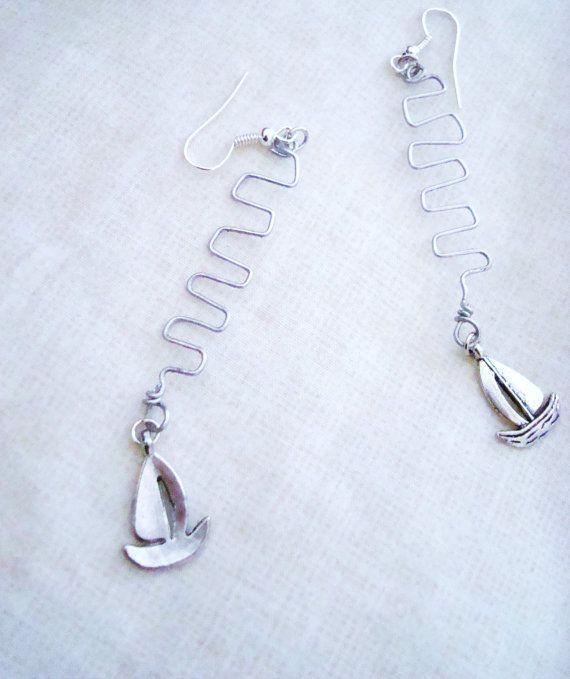 Boat Earrings by ShinningLights on Etsy, $4.49
