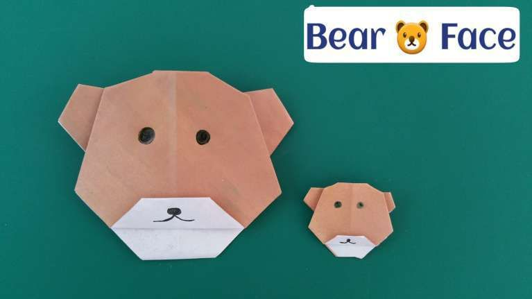 Origami Bear Face . Elegant origami Bear Face . How to ...
