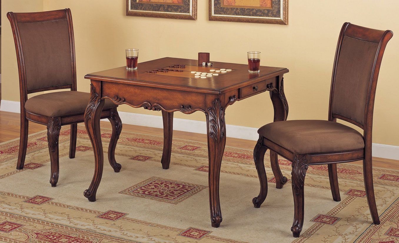 game tables and chairs Game Table and Chairs in Mahogany